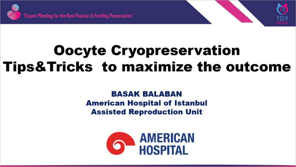 Basak Balaban talk in the International Online Symposium on Fertility Preservation